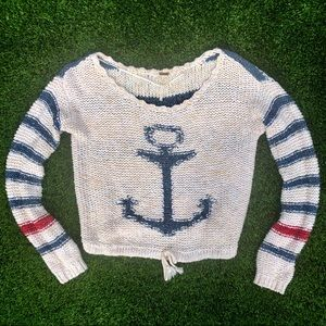 Free People Nautical Knitted Sweater